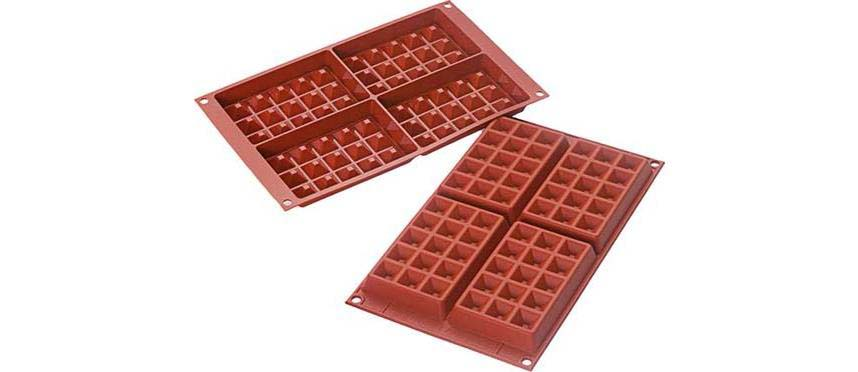 Stampi in silicone: Stampo waffel 13x8,1 h1,7 cm 36